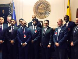 High school students from Communities in Schools of Atlanta with Assistant Attorney General Makan Delrahim, along with Chief of Staff John Elias