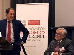Deputy Assistant Attorney General Roger Alford (Left) discusses the role of antitrust in promoting innovation.