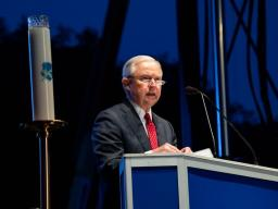 Attorney General Sessions speaking at the 30th Annual Police Week Candlelight Vigil