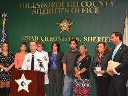 Sheriff Chronister discusses joint investigatoin.