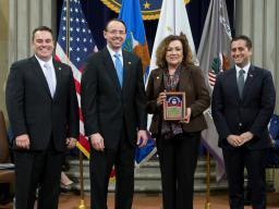 USA Maria Chapa Lopez recieves award.