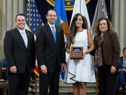 AUSA Rivera recieves award.