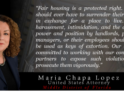 Quote from U.S. Attorney Maria Chapa Lopez