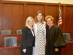 Chief Judge Barbara M.G. Lynn and U.S. Attorney Erin Nealy Cox welcome new AUSA Renee Hunter to the Northern District of Texas.