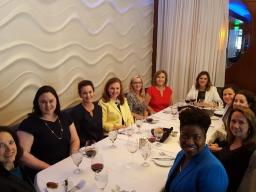 U.S. Attorney Nealy Cox and First Assistant Tanya Pierce are joined by some of the women Assistant United States Attorney's for an evening out.