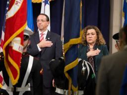 Pledge of Allegiance DAG Rosenstein and USA Chapa Lopez