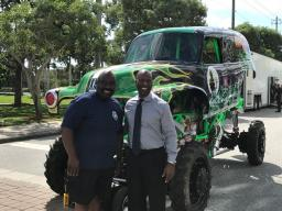 Sarasota PD featured Monster Trucks at the 2018 NNO event.