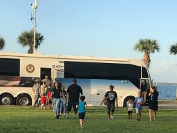 ATF welcomed community members to visit their mobile command vehicle.