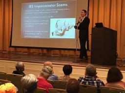 AUSA Simon Gaugush discusses common scams targeting older citizens.