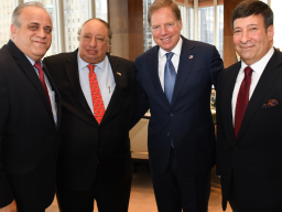 George Venizelos, US Attorney Geoffrey S. Berman, John Catsimatidis and Mark Simone