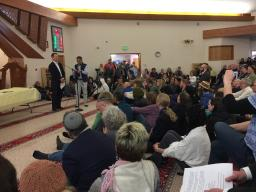U.S. Attorney Jason Dunn delivers remarks at the Islamic Center of Boulder on March 17, 2019