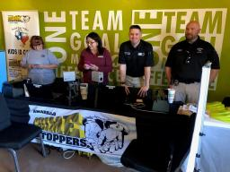 Crime Stoppers participating in Amarillo's PSN community event.