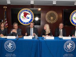 L-R: Bonny Sweeney; Bruce Simon; Mark Grundvig, Assistant Chief, Washington Criminal II Section; Amy Manning; Jeffrey Kessler; Peter Halle
