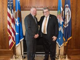 U.S. Attorney Andrew Murray with U.S. Attorney General William Barr