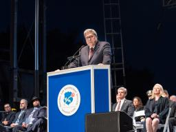 Attorney General Barr joined law enforcement partners and the community at the annual Police Week candlelight vigil to remember and honor the law enforcement officers who lost their lives in the line of duty.