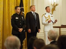 President Donald J. Trump awarded the Public Safety Medal of Valor to 14 recipients.