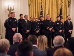 The Public Safety Medal of Valor was awarded to 14 recipients.