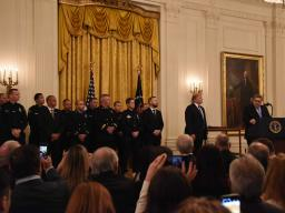 Attorney General Barr delivers remarks at the Public Safety Medal of Valor Ceremony.