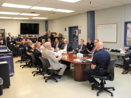 Deputy Attorney General Jeffrey Rosen met with sheriffs and sheriffs' deputies from across the country.