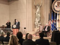 Attorney General Barr delivers a keynote address at the Department of Justice Summit on Combatting Anti-Semitism.