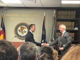 Deputy Attorney General Jeffrey A. Rosen and U.S. Attorney Jason Dunn