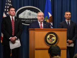 Assistant Attorney General Benczkowski for the Justice Department's Criminal Division announces that ten former National Football League (NFL) players have been charged in the Eastern District of Kentucky for their alleged roles in a nationwide fraud on a health care benefit program for retired NFL players.