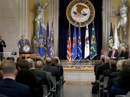 Attorney General William P. Barr announces the establishment of the Presidential Commission on Law Enforcement and the Administration of Justice.