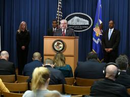 Assistant Attorney General Brian A. Benczkowski delivers remarks at the Project Python press conference.