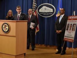 Drug Enforcement Administration Acting Administrator Uttam Dhillon provides remarks.