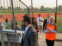 Attorney General Garland attends a youth baseball game held by Chicago Westside Sports, a part of the Chicago Police Department's formed Police Athletic League, at Columbus Park in South Austin and meets with community leaders.