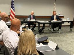 Attorney General Garland meets with U.S. Attorney for the Northern District of Illinois John Lausch and members of the Chicago Police Department Strategic Decision Support Center.