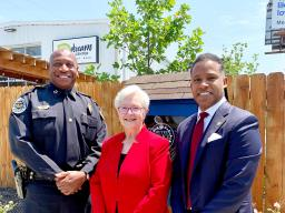 Assistant Attorney General Kenneth A. Polite Jr., Acting U.S. Attorney Mary Jane Stewart and Metro Nashville Police Chief John Drake visit the West Nashville Dream Center.