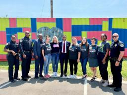 Assistant Attorney General Kenneth A. Polite Jr. and Nashville Police Chief John Drake meet with the extraordinary staff of the West Nashville Dream Center.