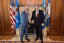Attorney General William P. Barr with the Honorable David Lametti, Minister of Justice and Attorney General of Canada