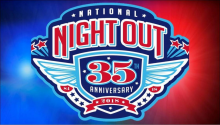 National Night Out 2018 35th Anniversary Banner