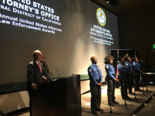 US Attorney Nick Hanna with Transportation Security Administration choir