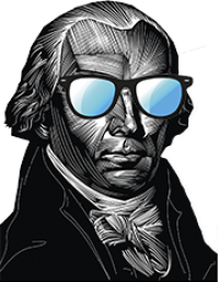 James Madison in shades