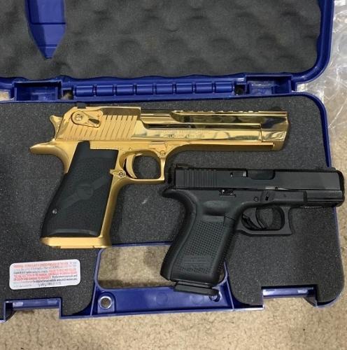 gun seized in case