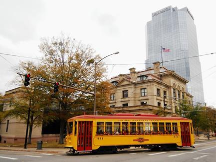 River Rail Streetcar in Downtown Little Rock
