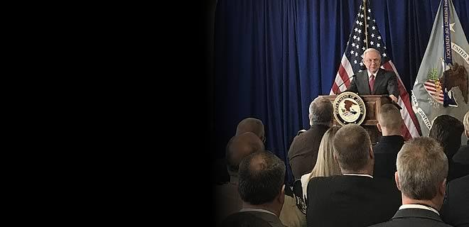 Attorney General Sessions Delivers Remarks on Efforts to Reduce Violent Crime and Fight the Opioid Crisis
