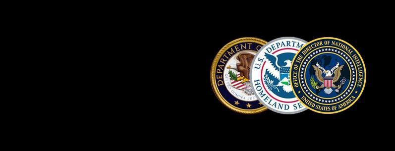 ODNI, DHS, DOJ Seals