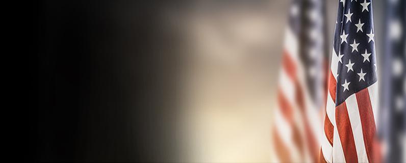 US Flag with USDOJ OPA Press Release