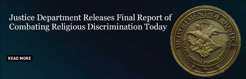 Combating Religious Discrimination Today: Final Report