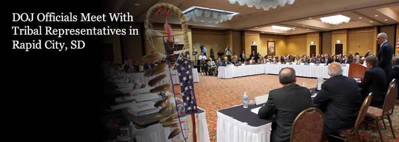 DOJ officials meet with tribal representatives in Rapid City, S.D.