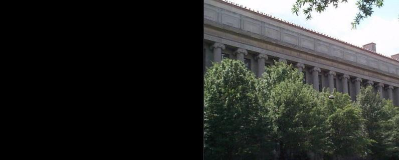 DOJ Building with Trees