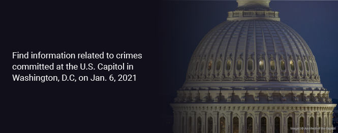 Find information related to crimes committed at the U.S. Capitol in Washington DC on January 6, 2020