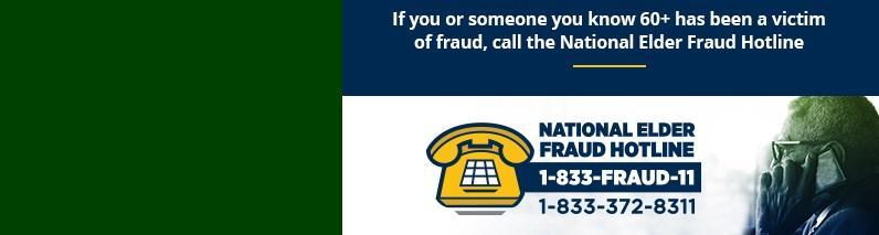 Logo for National Elder Fraud Hotline