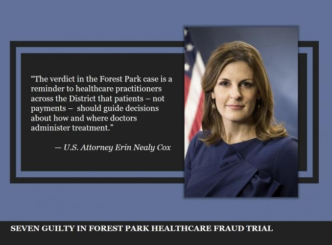 Seven Guilty in Forest Park Healthcare Fraud Trial
