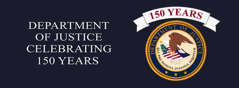 150 years, Department of Justice Seal