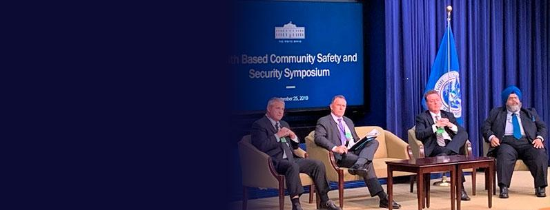 Harpreet at the Faith Based Community Safety and Security Symposium at the White House